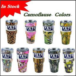 Wholesale Hot selling Rambler Tumbler oz YETI Cups Camoflause Colors Cars Beer Mug Large Capacity Mug Tumblerful Yeti cups In stock