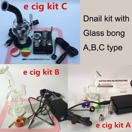 Wholesale D Nail ENail kit Temperature Controller Box with Coil heater titanium nail oil rigs Faberge Egg Water pipe recycler bongs smoking bowl