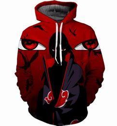 Naruto Sasuke 3D Print Anime Kids Hoodie Sweatshirt Men Long Sleeve Outerwear Pullovers Jacket Mens Hoodies Tops