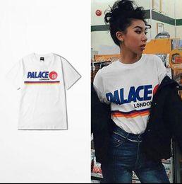 Wholesale palace tshirt homme hip hop thrasher skateboard t shirt men suprem t shirt women gym gosha palace skateboard tops tees