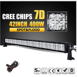 Canada 400W 42INCH CREE Chips 7D LED Offroad Light Bar Spot Flood Beam Combo Led Light de travail 12v 24v ATV Truck SUV 4WD 4x4 Pickup Offre
