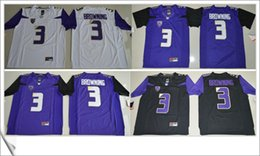 Wholesale American personalized Cheap College Football team final patch Embroidery Mens Pro Jerseys online Washington Huskies Jake Browning