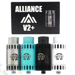 Wholesale Alliance V2 RDA Vaporizer Atomizer Clone Rebuidable Dripping Atomizer Adjustable Airflow Square Insulator fit E Cigarette Mod DHL Free