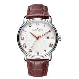 watches men Baolilong Casual fashion brand watches strap watch sapphire table mirror Precision quartz men's Watch Free shipping
