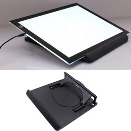 Wholesale Degree Adjustable Flexible Rotating Non slip Heat Dispersion Holder Stand Base for LED Drawing Copy Tracing Board Black