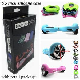 Wholesale 6 inch Hoverboard Electric Scooter Protective Silicone Case Self Smart Balance Scooter Wheels Skin Cover with Retail Pack Package DHL