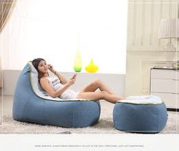 Wholesale GENIUINE LEISURE TATAMI CLOTH SOFA BLUE FASION MODERM STYLE LIVING ROOM SIMPLE FURNITURE GOOD QUALITY F18