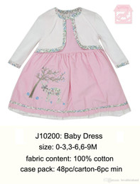 Wholesale UK Brand Luvena Fortuna Lovely Cute Fashion Colorful Baby Girls Pageant Suits Dress T shirt Sleepsuit