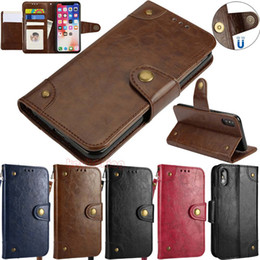 Stylish Vintage Leather Wallet Card Holder Flip Stand Leather Phone Case Cover For iPhone 8 X 7 6 5S & Samsung Galaxy S8 S7 S6 S5 J3 J5 J7