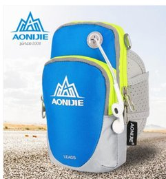 2017 équipement d'emballage Vente en gros- NOUVEAU AONIJIE Fitness Equipment Running Mobile Arm Package Sport Arm Nylon Universal Running Phone Bag équipement d'emballage sur la vente