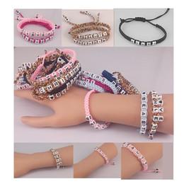 2017 wholesale Couple Titanium bracelet Charm Bracelets festival gift carnival movement Acrylic & Titanium Weaving design style