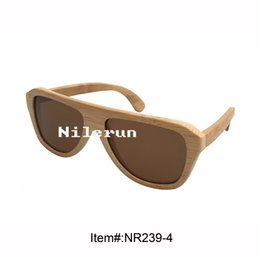unisex men women natural bamboo sunglasses with brown polarizing lens
