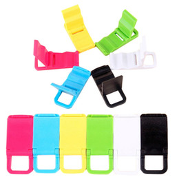 Wholesale New Portable Folding Cell Phone Holder Beach chairs L shaped phone holder Mini Stand For red rice note Mobile Phone