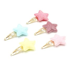 Wholesale 1pc baby girl barrettes hair clip little star with Bright powder hairpin cute headwear Apparel Accessories mg0033