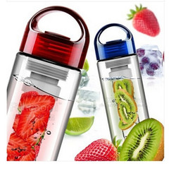 Wholesale Fruit infusing water bottle oz Shatter Proof tritan bottle700ml fruit infuser water bottle BAP