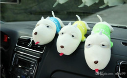 Wholesale Bamboo bags in cute cartoon design long mouth dog decoration for cars as Customized gift or partical