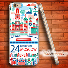 Coque Cartoon Moscow Russia Soft Clear TPU Case for iPhone 7 6 6S Plus 5S SE 5 5C 4S 4 Case Silicone Cover.