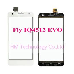 Promotion quad lcd Wholesale-Blanc / Noir TP pour Fly IQ4512 EVO Chic 4 Quad / 5,0
