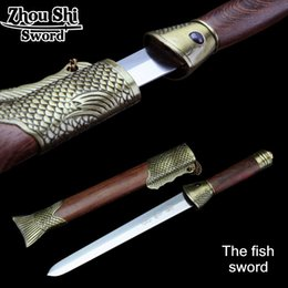 Wholesale authentic chinese Antique sword The fish sword The top ten Sword Exquisite design Home Decorative Collectibles