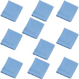 La limpieza de lentes de gafas en Línea-Venta al por mayor - TOAZOE 10pcs alta calidad lente microfibra de la pantalla de limpieza de los vidrios espectáculo micro fibra de tela del paño de limpieza herramientas