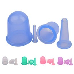 4Pcs Set Family Body Massage Helper Anti Cellulite Silicone Vacuum Cupping Cups Neck Face Back Massage Cupping