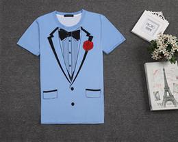 2017 new mens big bang sheldon tuxedo t shirt, 100% cotton short sleeves blue boys tee shirts ideas, t shirt shop store