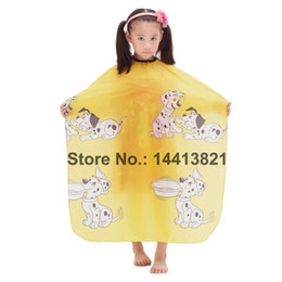 yellow blue semitransparent children kid hair cutting cape waterproof