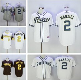 2017 johnny manziel jerseys Chaussures Chaussures de sport San Diego Padres 2 # Jerseys Majestic Johnny Manziel Authentic Baseball Jersey peu coûteux johnny manziel jerseys