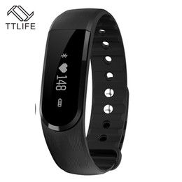 tracker d'activité de smartband Promotion Vente en gros- Nouveau TTLIFE ID101 Bracelet intelligent cardiofréquencemètre Smartband Pulse Sports Fitness Activity Tracker Wristband pour Android IOS