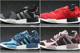Wholesale 2016 Adidas NMD Runner Shoes NNM_R1 S79164 S79163 Monochrome R Primeknit NMD R1 Women Men Running Shoes Sneakers Sports Shoes Size