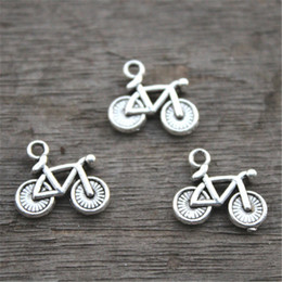 30pcs--Bicycle Charms,Antique Tibetan Silver Lovely Bike Charm Pendant ,13x15mm