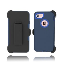 Defender Shockproof Cover +Belt Clip Holster Durable Heavy Duty Rugged Tough Armor Case for Iphone 7 plus 6S 5SE Samsung Galaxy S6 S7 S8plus