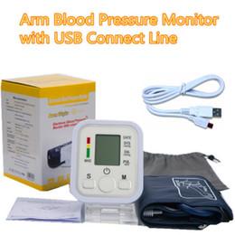 Wholesale Health Care Digital LCD Arm Blood Pressure Monitor Sphygmomanometer Tensiometro Blood Pressure Meter Tonometer Medical Equipment