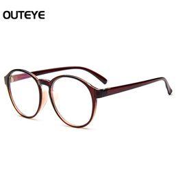 Men s round eyeglass frames en Línea-Venta al por mayor- gafas ópticas gafas de marco con cristales transparentes de cristal de la lente de los hombres gafas de la falsificación de las mujeres transparentes redondas de la vendimia de la vendimia