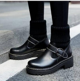 vogue New Womens Knight Boots Cowboy Shoes Platform Ankle Boots Genuine Leather Buckle Designer Luxury Winter Black Shoes