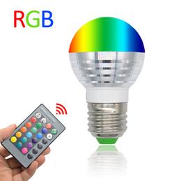 3W RGB LED Lamp E27 220V Spotlight Lampada LED Bulbs E14 85-265V Christmas Lanterna Bombillas LED Bulb E27 With Remote Control