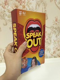 Wholesale 2016 The new listed Speak Out Game KTV party game cards for party Christmas gift newest best selling toy