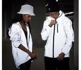 Wholesale Sponge mice m reflective jacket men women harajuku windbreaker jackets hooded streetwear coats m jacket windbreakers