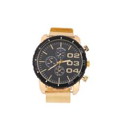 Gold Shiweibao Mens Watch Decorative Sub-dials Male Quartz Watch Steel Net Band