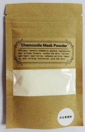 Wholesale chamomile mask powder contain chamomile essence ingreients anti allergy formula smooth the skin relieve and reapir capillaries enhance cel