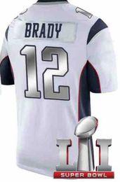 Wholesale Brady super bowl VIP jersey Sliver words Football Jerseys White Super Bowl Jerseys Cheap Football Jerseys Online Men Shirts