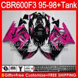 gloss rose 8 Gifts 23 Colors For HONDA CBR600F3 95 96 97 98 CBR600RR FS 2HM28 CBR600 F3 600F3 CBR 600 F3 1995 1996 1997 1998 black Fairing