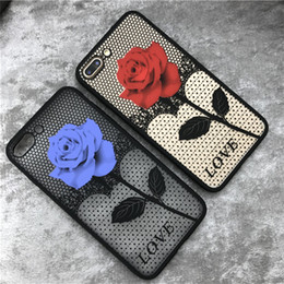 Rose Flower Printing Bracket Phone Case For Apple iPhone6 6Plus back cover rose flower case for7 7plus 5.5inch pc tpu back case