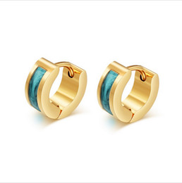 2017 mini-roches Boucles d'oreilles en forme d'or Boucles d'oreilles en acier inoxydable Boucles d'oreilles en acier inoxydable pour les femmes Hommes Multicolore Mini taille 4MM large EH-112 abordable mini-roches