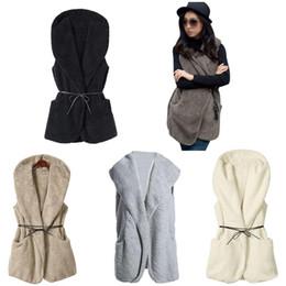 2017 hoodie de la fourrure pour les femmes IMC femmes Hoodie Faux fourrure manches longues manteau Khaki une taille kaki gris blanc noir hoodie de la fourrure pour les femmes à vendre