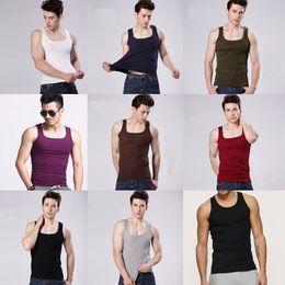 Wholesale Factory direct sale colors Cotton Stringer Bodybuilding Equipment Fitness Gym Tank Top shirt Solid Singlet Sport clothes Vest