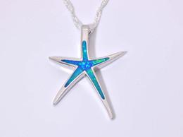 Wholesale & Retail Fashion Jewelry Fine Blue Fire Opal Stone Silver Plated Pendants For Women PJ16060204