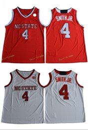 Wholesale Dennis Smith JR NC State Wolfpack Red White Color Jersey New Style High Guality Stitched All Name Number Jerseys