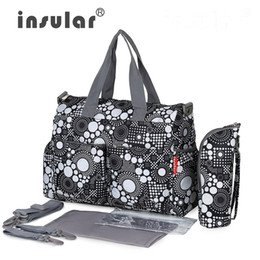 Wholesale Hot Sale Insular Fashion Nylon Waterproof Baby Diaper Bag Messenger Mommy Bag