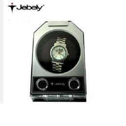 Jebely Single watch winder Automatic mechanical watch box turn table ware JA084 elegant black+Sliver